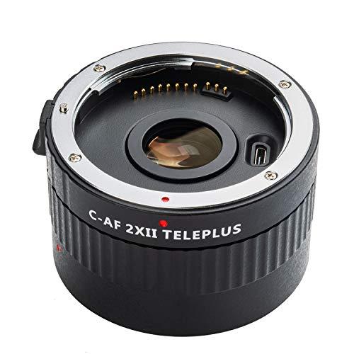 VILTROX C-AF 2X II Teleplus Autofokus 2.0X Teleobjektiv-Konverter schwarz für Canon EF Mount Super Tele-Objektiv 135 mm f/2L, 70-200 mm, 10L, 70-200 mm, 100-400 mm und DSLR-Kamera 5DII 80D