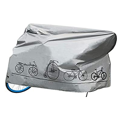 Redipo Waterproof Bike Cover impermeable Durable Polyester Cycle with Locker Holes Bicycle Cover for All Weathers UV Resistant for Mountain Road Electric Beach Hybrid Exercise Bike