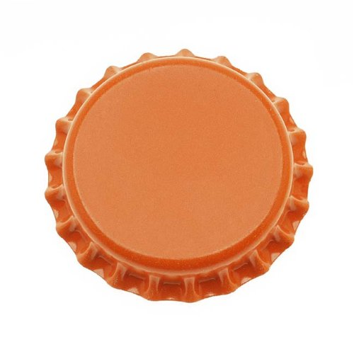 Beadaholique CROrange New Orange Crown Bottle Caps Craft Scrapbook Jewelry (Pack of 50)