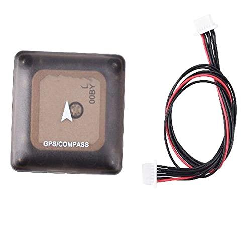 DingPeng 1PCS NEO-M8N con Bussola.APM PIXHAWK.Alta precisione GPS Contenere Cavo 6p per FPV RC.Ricambi Drone. Modulo GPS Drone FPV