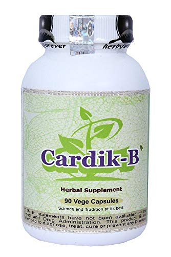 Cardio-B (Cardik-B) Helps to Maintain Healthy Blood Pressure, Anti Stress. Ayurvedic Herbs Formulation Concentrated Extract 90 vege Capsule 800 mg Each.