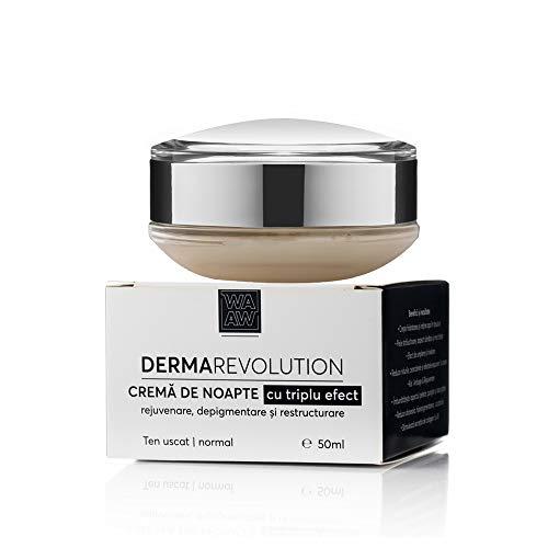 Wawa Fresh Cosmetics, Rostro, Crema de noche con triple efecto: rejuvenecimiento, despigmentación y reestructuración, cuidado de la piel 100% natural, 50 ml