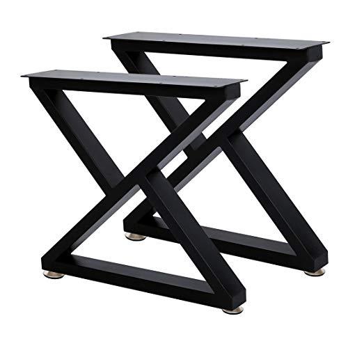 Coffee Table Leg Bench Legs 16''Height 18''Wide Heavy Duty Desk Legs Table Leg, DIY Bench Legs (Black)