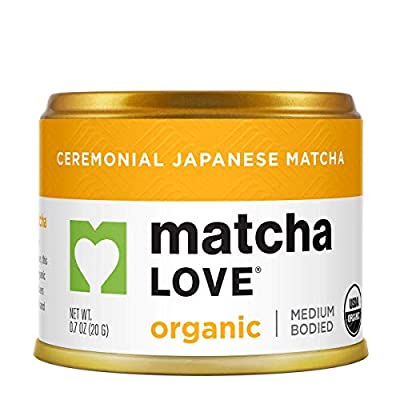 Matcha Love Organic Ceremonial Organic Green Tea Matcha Powder