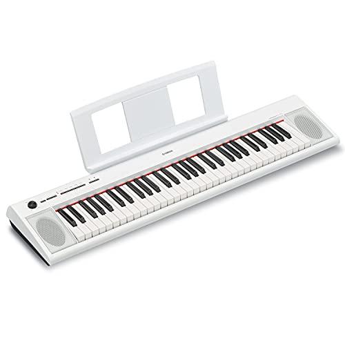 Yamaha NP12 61-Key Lightweight Portable Keyboard, White (power adapter sold separately)