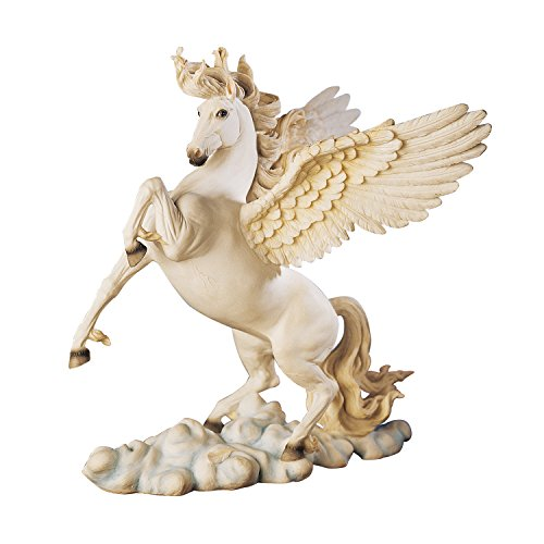 Design Toscano Pegasus Winged Horse Statue, 11 Inch, Polyresin, Full Color