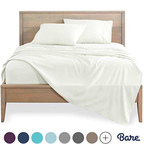 Bare Home Full XL Sheet Set - Kids Size - Premium 1800 Ultra-Soft Microfiber Sheets Full Extra Long - Double Brushed - Hypoallergenic - Wrinkle Resistant (Full XL, Warm White)