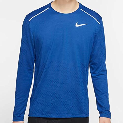 Nike Men's Rise 365 Long-Sleeve Running Top Indigo Force/Reflective SILV S