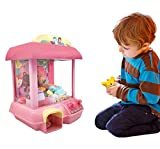 ForBEST Claw Machine Doll Machine with 12 Dolls, Removable Remote Control, USB Cable, Adjustable Sounds and Lights, Best Gift Toy for Kids (Pink)