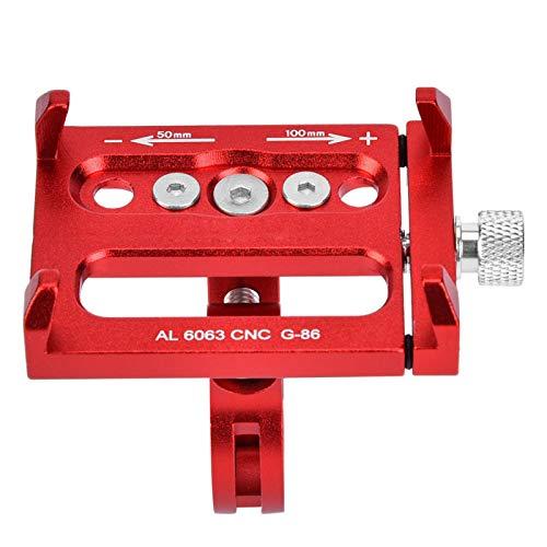 Soporte para teléfono de bicicleta 50 – 100 mm mango duradero soporte para teléfono de bicicleta bicicleta moto (rojo)