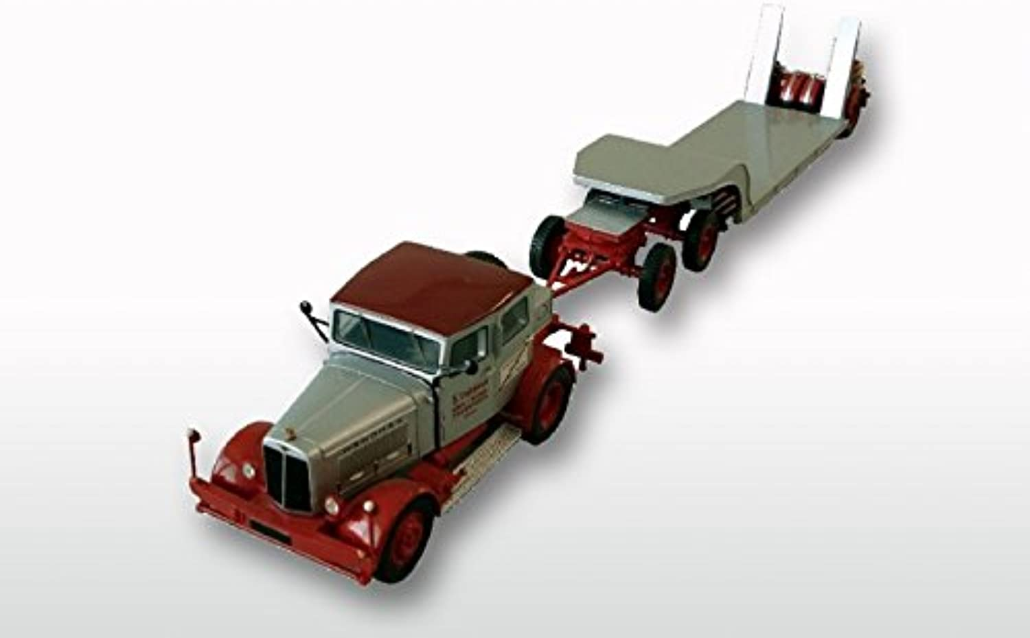 GMTS  G0003910  Hanomag SS 100 with low loader 1 50, limitied Resinmodel grey red