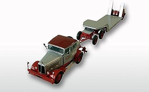 ventas de salida GMTS - G0003910 - Hanomag SS 100 con plataforma baja baja baja una y cincuenta, limitied Resinmodel gris   rojo  en stock