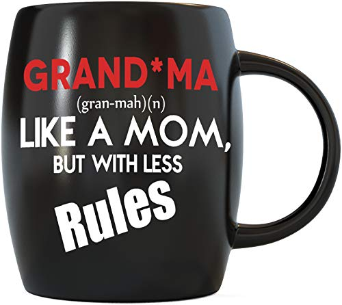 Mug A Day Grandma Like A Mom But With Less Rules Novelty Drinkware...