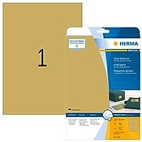 HERMA 4107ラベルA4 210 x 297 mmゴールドフィルム光沢のある25個。