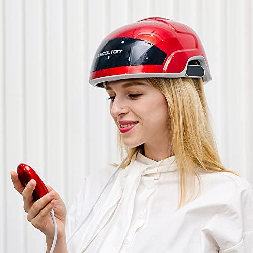 LESCOLTON Dispositif de Croissance Cheveux de Thérapie Au Laser, Traitement Au Laser Anti-Perte de Cheveux Promouvoir La Croissance des Cheveux (Red)