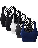 Women Seamless Padded Strappy Sports Bra Yoga Fitness Running Sportswear top