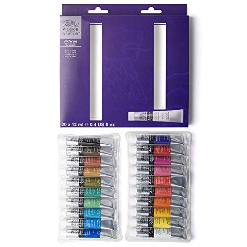 Winsor & Newton 1590266 Artisan - Set di 20 colori ad olio, multicolore
