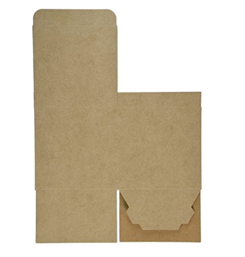A1 Bakery Supplies Kraft Gift Boxes, 4X 4 x 4 Inch, Brown, Pack of 10