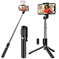 【ADJUSTABLE PHONE HOLDER】 With 360°rotation, you could rotate and select horizontal or vertical camera mode to get the best angle photos. Simply twist the cradle head or phone holder to take photos, video call or live broadcasting, to meet your diffe...