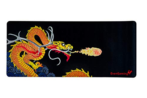Wise Dragon Gaming Mouse Pad | Thick | 27'x 11' | Beautifully Designed (Dark Edition)