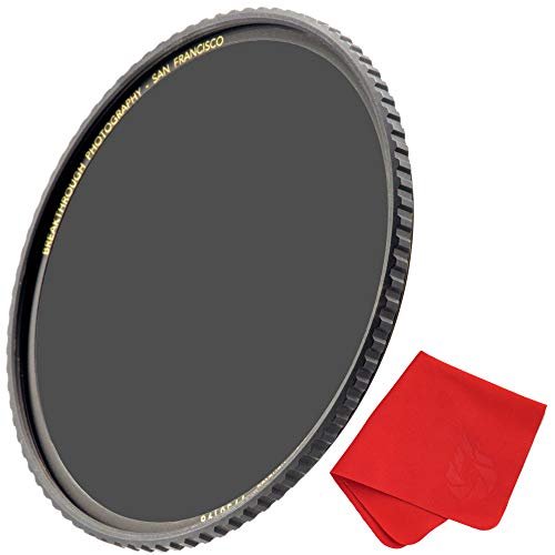 Breakthrough Photography 55mm X4 6-Stop Fixed ND Filter for Camera Lenses, Neutral Density Professional Photography Filter, MRC16, Schott B270 Glass, Nanotec, Ultra-Slim, Weather-Sealed