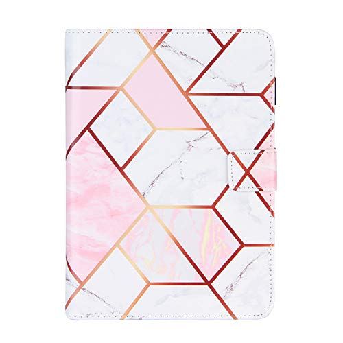 JIan Ying Case for iPad 10.2 / iPad 7th Slim Lightweight Peint Protector Cover White pink marble