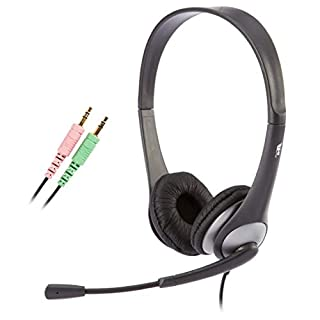 Cyber Acoustics Stereo Headset, headphone with microphone, great for K12 School Classroom and Education (AC-201),Silver (B0002QLQ96)   Amazon price tracker / tracking, Amazon price history charts, Amazon price watches, Amazon price drop alerts