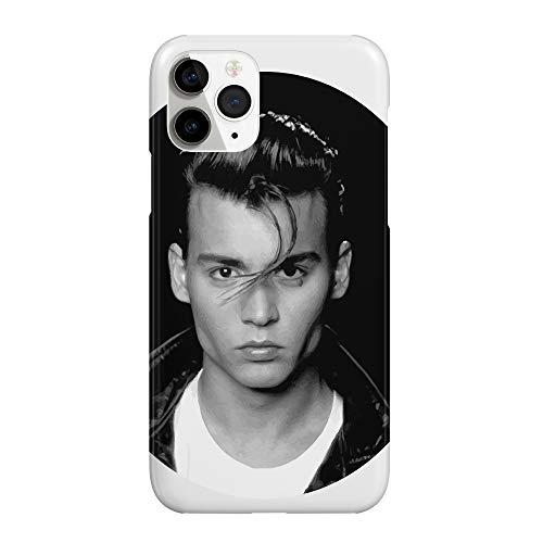 Johny Depp Face Sexy_MRZ2362 - Funda protectora de plástico duro para teléfono inteligente, diseño divertido para iPhone 7 Plus