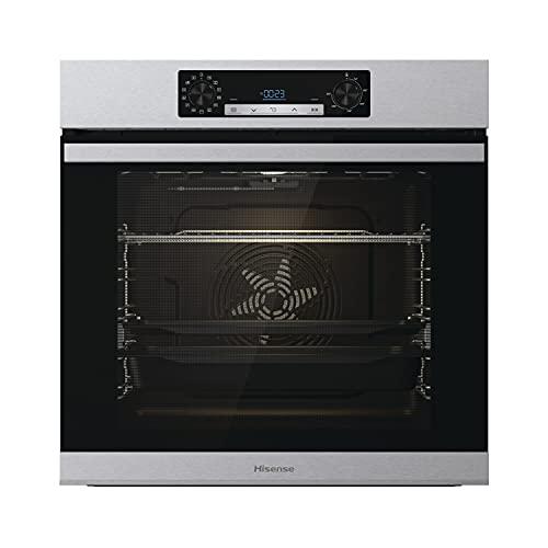 Hisense BSA65226AX, Forno Multifunzione Termoventilato con aggiunta Vapore, Cavità XXL 77L, Pulizia Acqua Clean, 13 funzioni di cottura, 3 funzioni Vapore, Funzione pizza 300 °C, Cottura AirFry