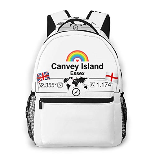 Canvey Island Backpack Water Resistant Lightweight Cloth Casual Unisex