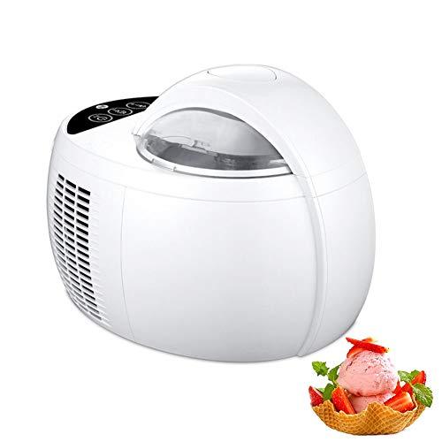 Elektrische Eismaschine Gefrierbehälter mit 1L Fassungsvermögen Fertiges Dessert in 15-30 Minuten Speiseeismaschine Speiseeisbereiter für Eiscreme Sorbet Frozen Joghurt