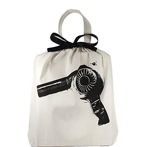 Bag-all Women's Hairdryer Organizing Bag, Natural/Black, One Size