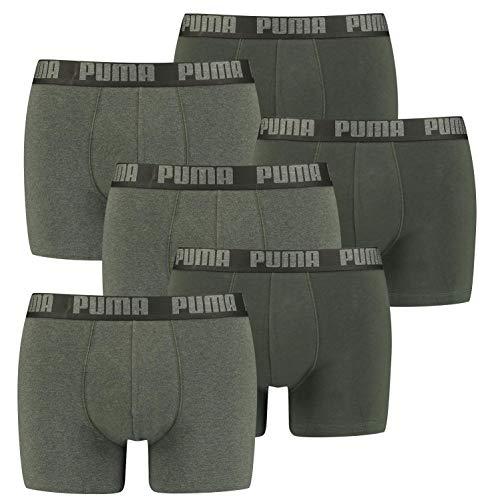 PUMA 6 er Pack Boxer Boxershorts Men Herren Unterhose Pant Unterwäsche, Farbe:038 - Green Melange, Bekleidungsgröße:XXL