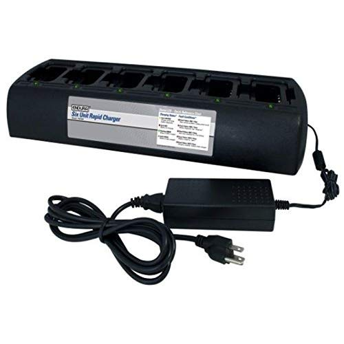 Great Price! Power Products 6 Slot Desktop Charger with Replaceable Pods for Motorola AstroSaber HT1...