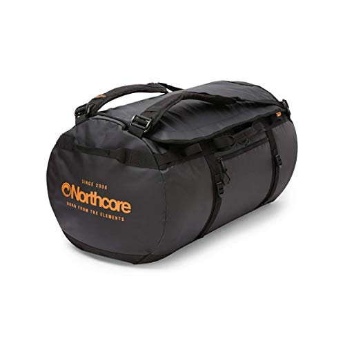 Northcore Duffel Bag 85L Adventure Series (Black/Orange)