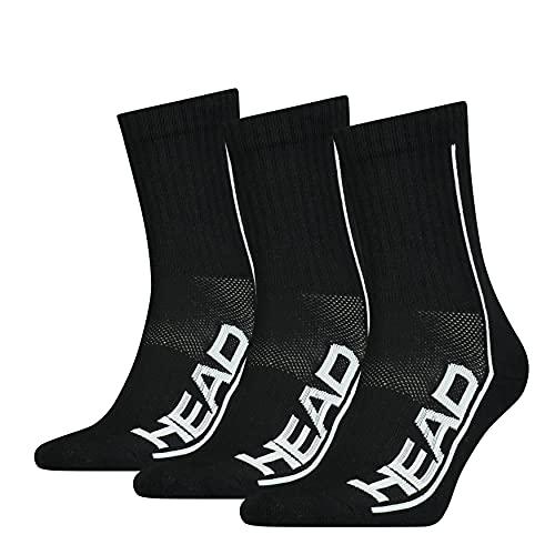 Head Performance Short Crew Socks Calcetines Cortos, Black, 43 Regular Unisex Adulto