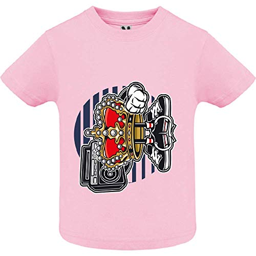 T-Shirt - Street King - Bébé Fille - Rose - 2ans