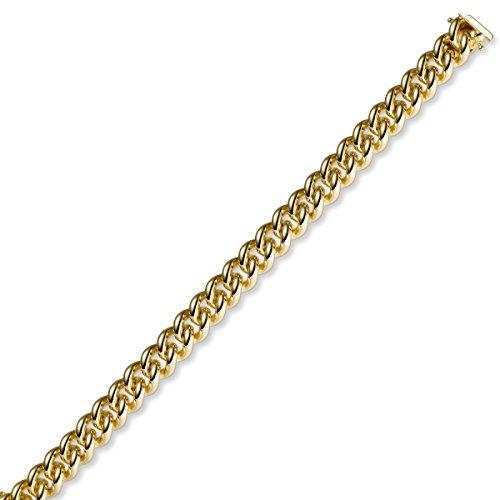 10mm Armband Armkette Rund-Panzerarmband aus 585 Gold Gelbgold massiv, 21cm
