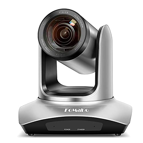 FoMaKo 12X Zoom HDMI USB PTZ Conference Room Camera 1080P Live Streaming Skype Teams Zoom Meeting Webcam Video Conferencing System FMK12UH