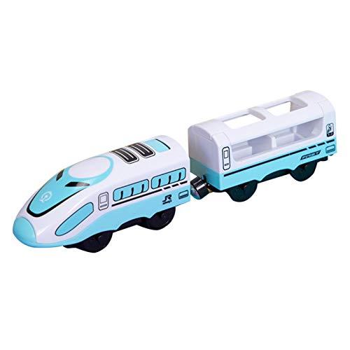 Juguete De Tren Eléctrico Magnético, Juguete De Riel Compatible con BRIO Track,...