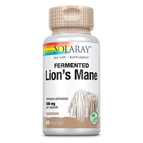 Solaray Lions Mane 500mg   Melena de Leon   Organically Grow