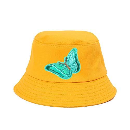 Vissers hoed en vrouwen Emmer hoed kleur vlinder borduurstof stickers Ouder-kind kinderen Visser Hoed babymutsjes