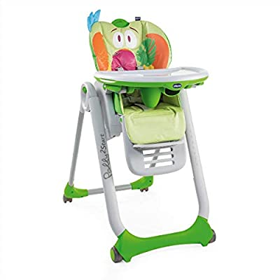Chicco Polly 2 Start Trona y hamaca transformable y compacta, con 4 ruedas y freno, de 0 a 3 años, diseño elefante gris (Baby Elephant)