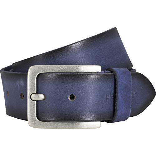 Pierre Cardin - Cinturón de piel de vacuno para hombre, color azul marino