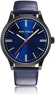 Mini Focus Mens Quartz Watch, Analog Display and Leather Strap - MF0058G.02