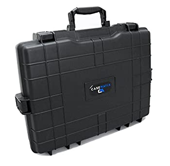 CASEMATIX Hard Waterproof Laptop Carry Case Compatible with Asus Rog Republic of Gamers Gaming Laptops 15.6 inch and 17.3 inch Zephyrus Strix 1 Keyboards Mice and Power Adapter Chargers - Case Only