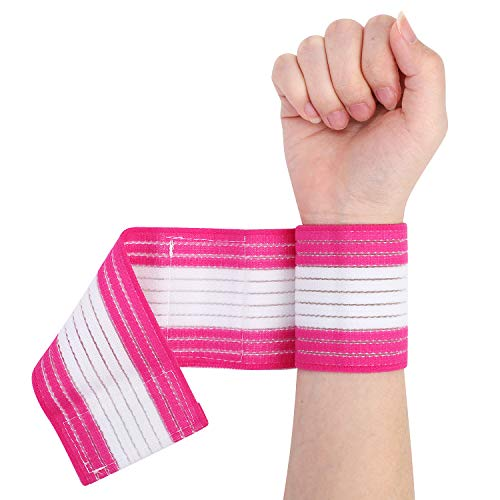 2Pack Wrist Band Support Sleeve Wrist Support Strap Adjustable Wrist Wrap Sports Bandage Compression Strap Elastic Breathable Weight Lifting Straps Wrist Support for Men Women Tennis Sports Exercise