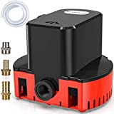 Automatic Swimming Pool Cover Submersible Pump, 1200 GPH, 3 Hose Adapters, 25 ft Power Cord, 16ft Drain Hose, Submersible Water Pump for Multiple Purposes