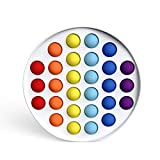 VASTAIR Pop Bubble Sensory Fidget Toy, Silicone Squeeze Game Plate Fidget Toy, Autism Special Needs Stress Reliever Anxiety Relief Hand Fidget Toys for Kids and Adluts, 12Styles( Round Rainbow)