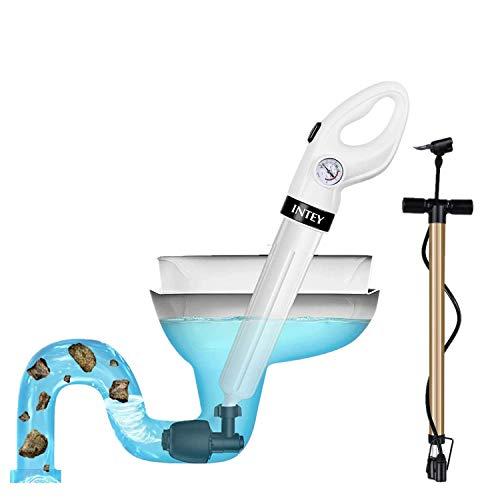 INTEY Hochdruck Saugglocke - Multifunktional Abflussreiniger mit 3 Kolbenköpfen, Starker Saugleistung, schnellen und effektiven Rohrreinigung für Toilette, Waschbecken, Duschen und Spüle